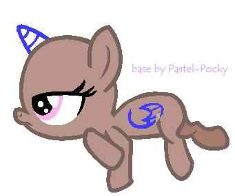 Bored foal - MLP Base by Pastel-Pocky