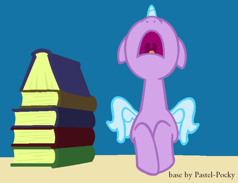 I hate homework - MLP Base by Pastel-Pocky