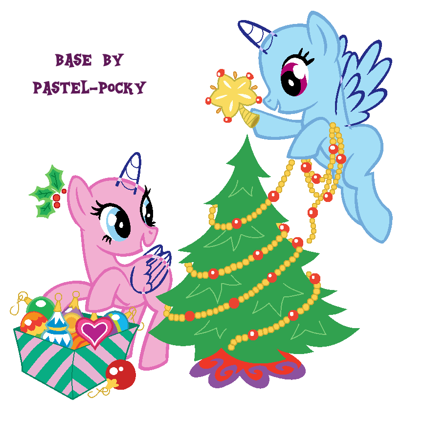 cute holiday horses mlp base by pastel pocky on deviantart