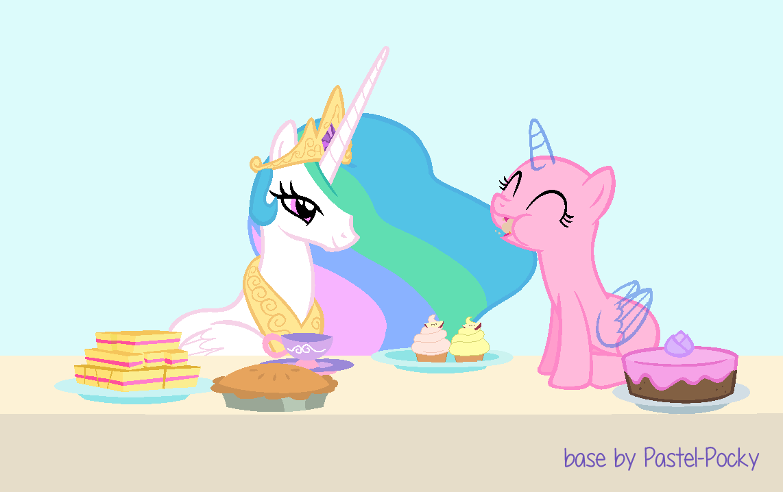 I'll so send you to the Moon - Celestia x oc by Pastel-Pocky