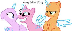 Don't harass my girlfriend - MLP Base by Pastel-Pocky