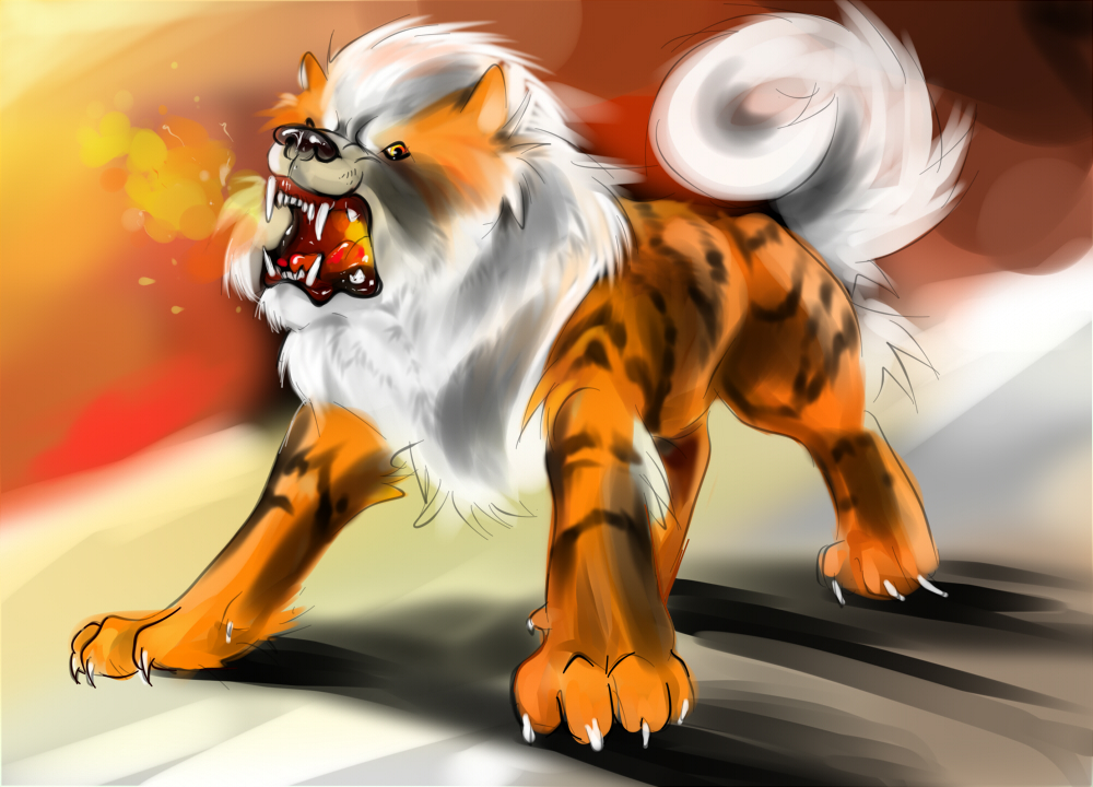 Arcanine by ienaserena