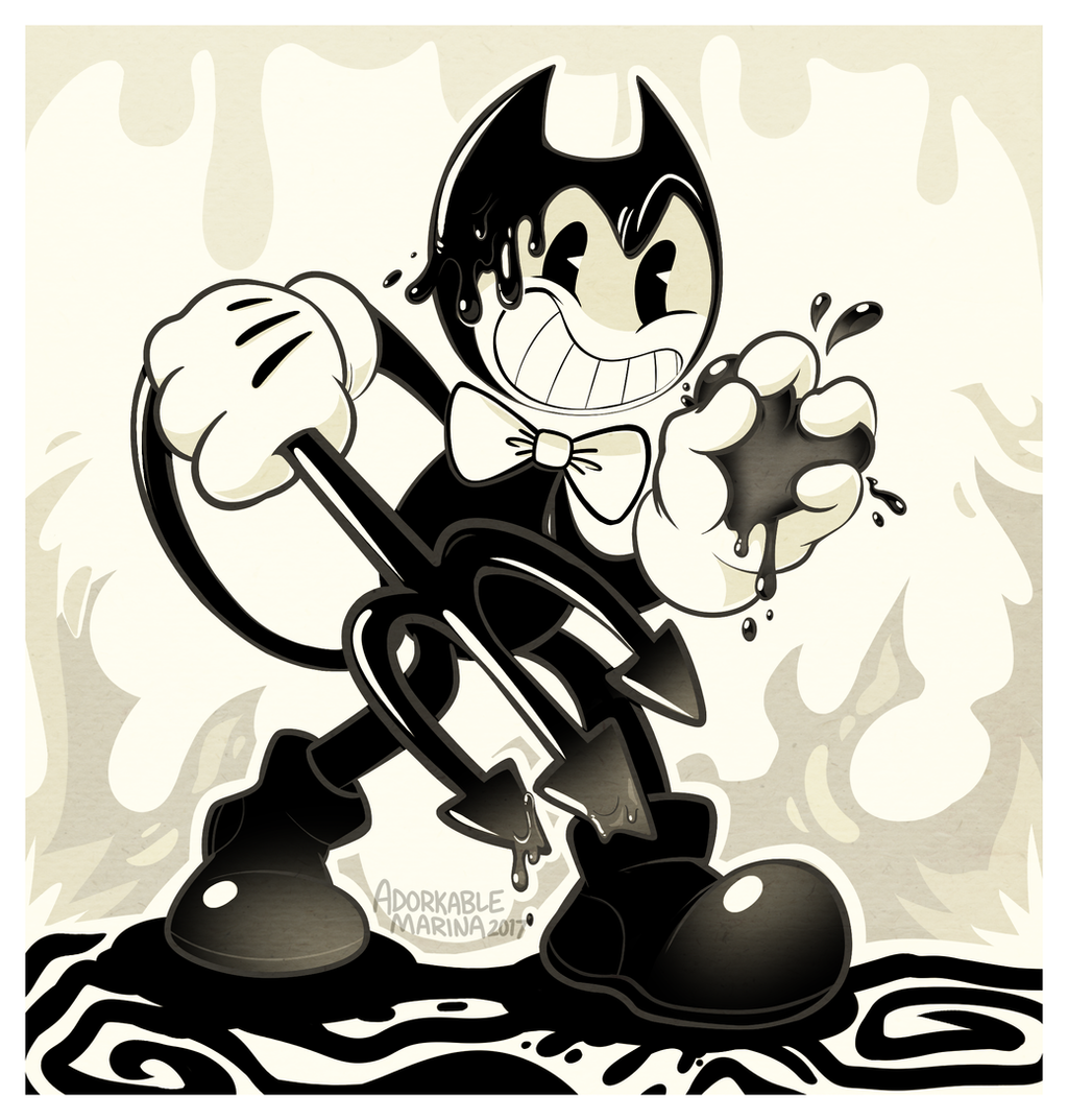 BENDY and the Ink Machine + [SPEEDPAINT] by AdorkableMarina