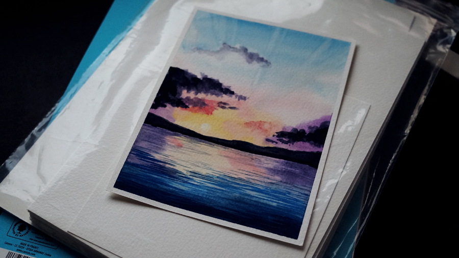 landscape watercolor by yoki0426