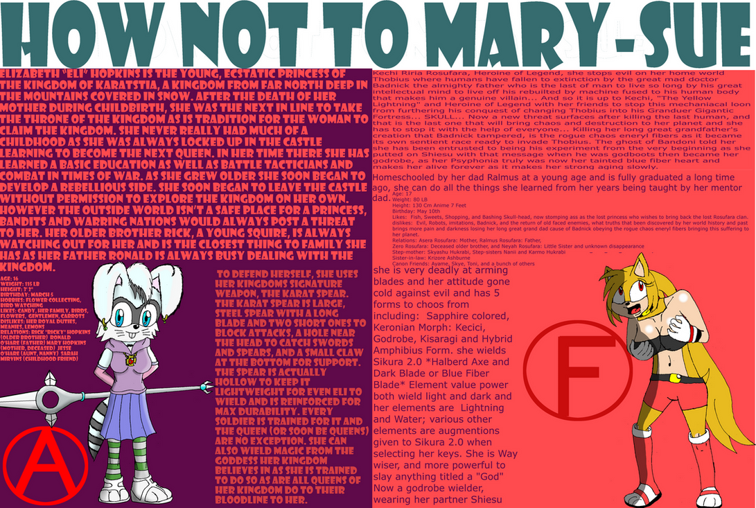 mary sue For the list, please see list of mary sues and gary stus a mary sue (female variant) or gary stu (male variant) is the considered adversary of a society agent.