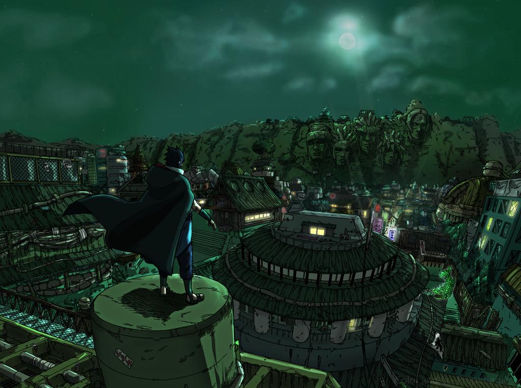 Konoha Village Png Deviantart: Revisited: Sasuke's Return By Properlogic On DeviantArt