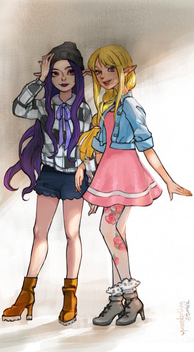 Zelda and Hilda by yume-darling