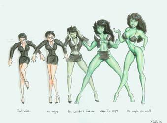 She Hulk animated style by ralphieboy