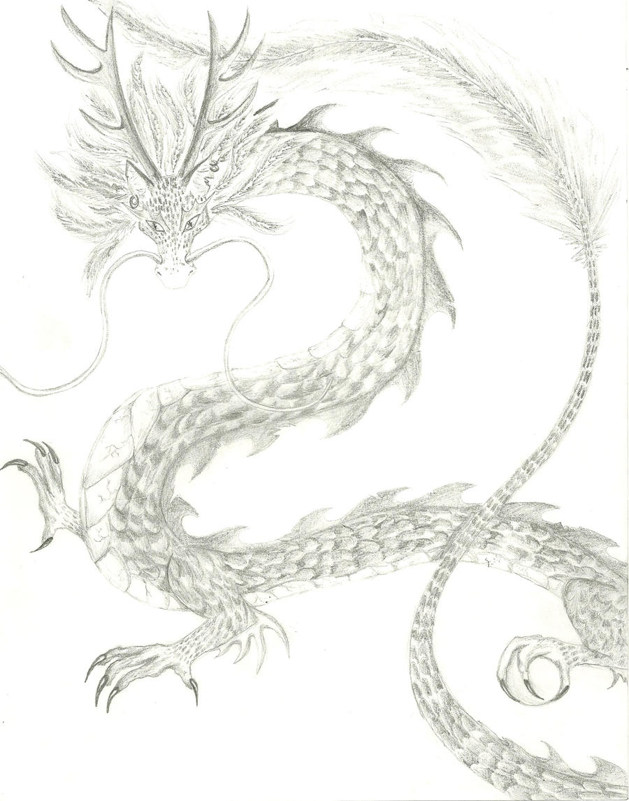 Dragon Pencil Drawing by Go-a-Green-a on DeviantArt