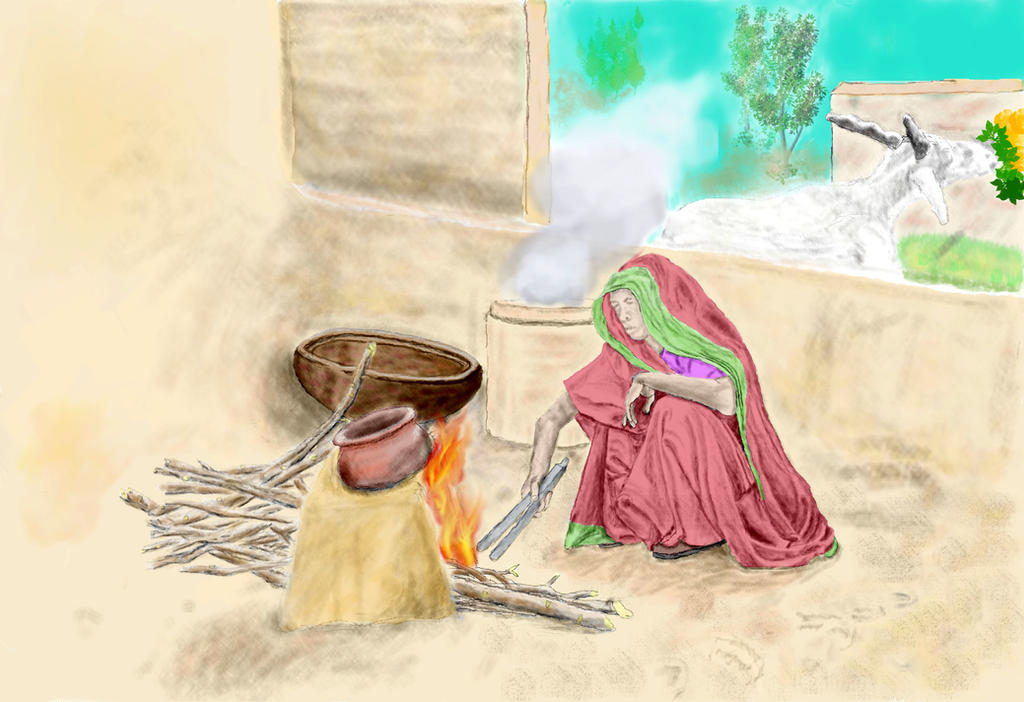 Indian Woman Cooking By Kali Dass On Deviantart