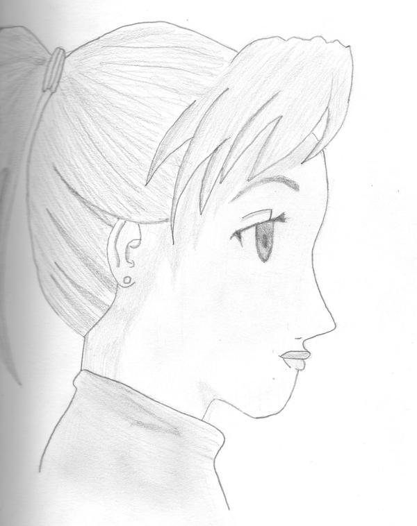 Anime Girl Side View by Samaybin on DeviantArt