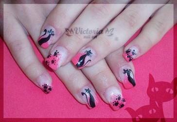 Nail art 185 (Gel nails) by ChocolateBlood