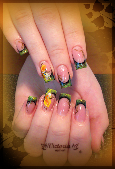 Nail Art 218 Gel Nails By Chocolateblood On Deviantart