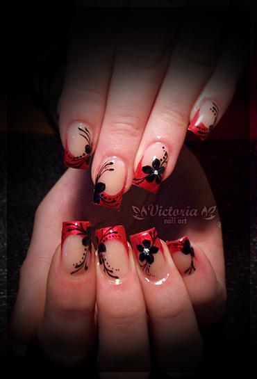 Nail art 224 gel nails by chocolateblood on deviantart nail art 224 gel nails by chocolateblood publicscrutiny Gallery
