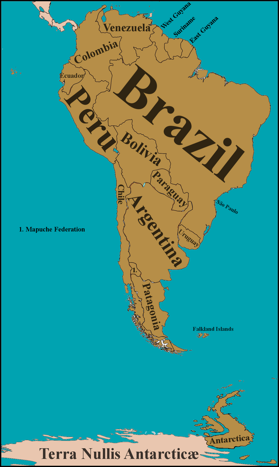 South America, circa 2064 by Nederbird