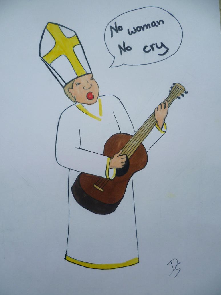 Pope loves Bob Marley by Artyra