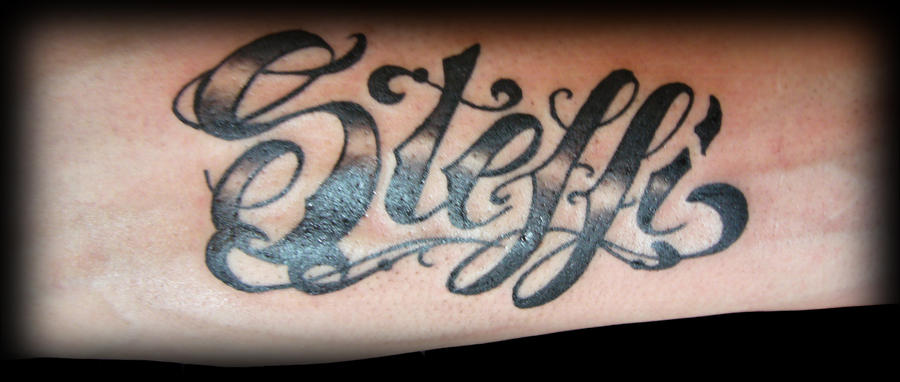 Tatto script irreversibel art by irreversibel art on Script art