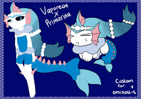 Pokemon [CUSTOM] | Vaporeon x Primarina Fusion