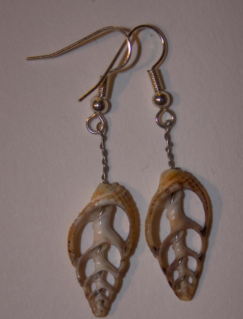 shell skeleton earings by mo-guy