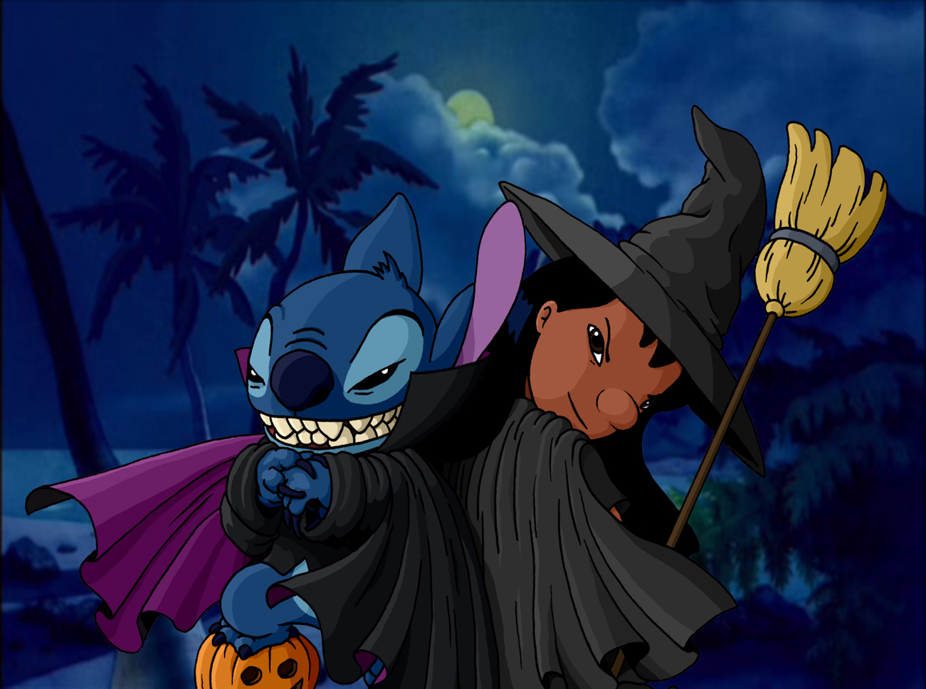Lilo And Stitch Halloween By Ribera On Deviantart