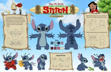 How to draw Stitch by Ribera