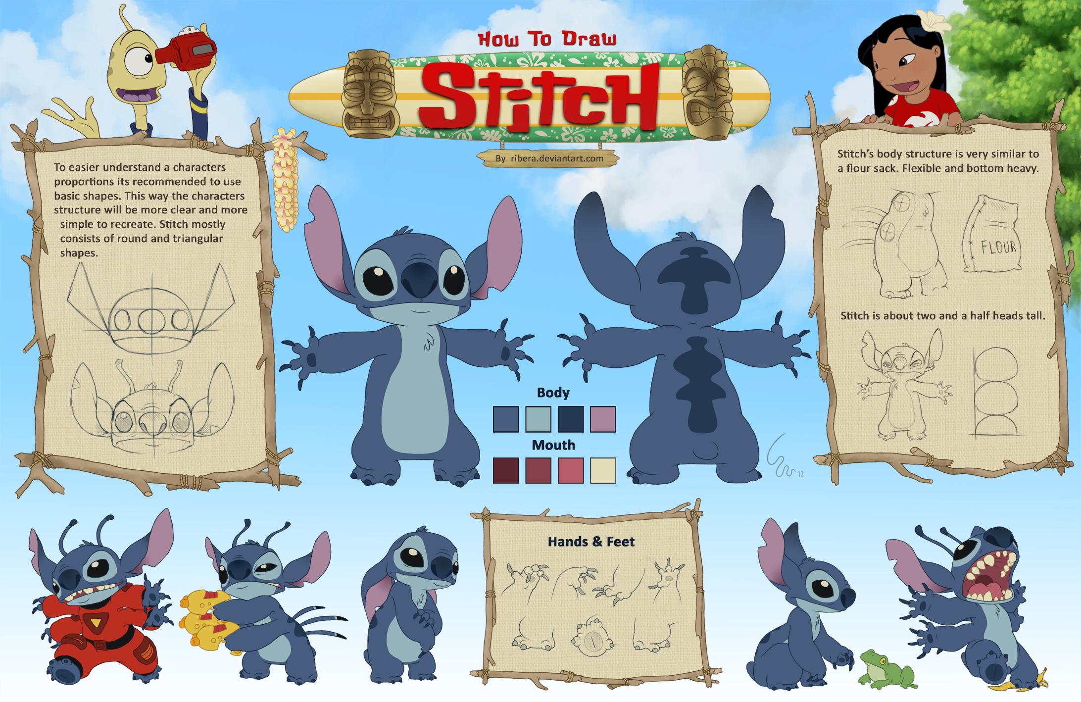How to Draw Stitch From Lilo And Stitch How to Draw Stitch by