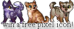 win a free pixel icon! by whitepup