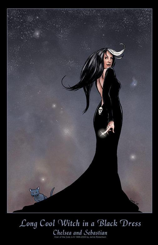 Chelsea in Black Dress