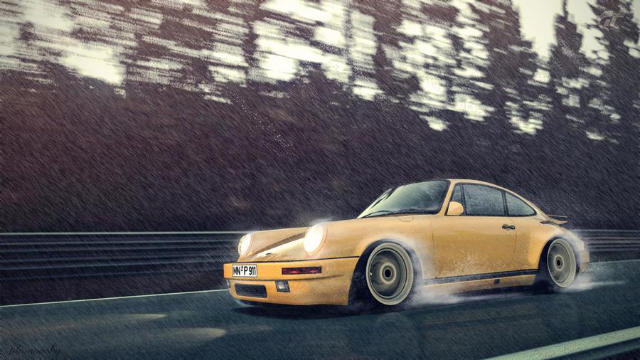 Porsche RUF CTR Yellowbird Rainy edit by Adamowsky-Design