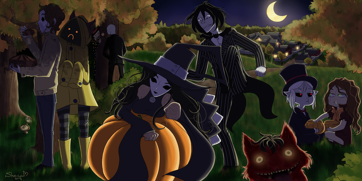 Pasta's Halloween (finished art) by Nyako-Shoyu on DeviantArt Funny Halloween Costumes