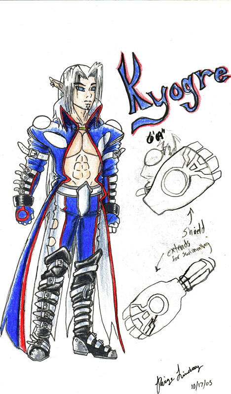 Human Kyogre Kyogre as a human by F...
