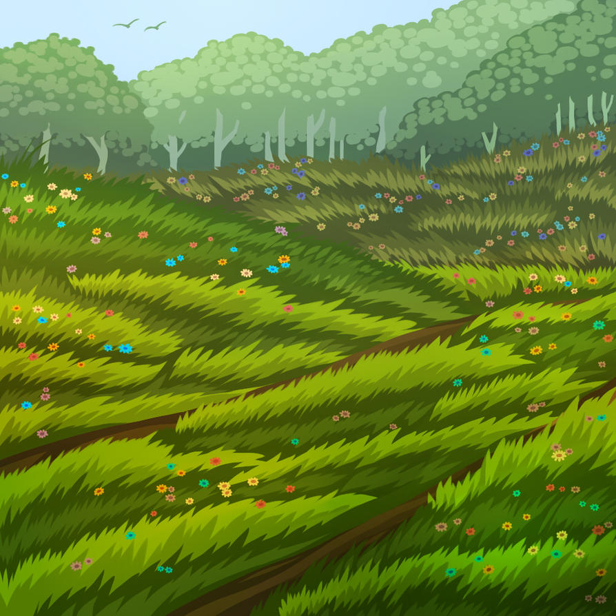 Floral hills by Semargl-Wolf