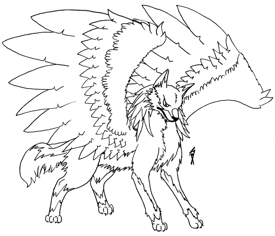 Winged wolf by Shiny-the-phoenix on DeviantArt