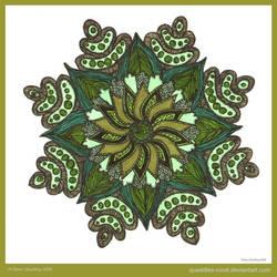 Petals Of Wisdom Mandala by Quaddles-Roost