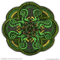 Restful Contemplation Mandala by Quaddles-Roost