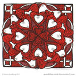 Love Hearts Mandala by Quaddles-Roost