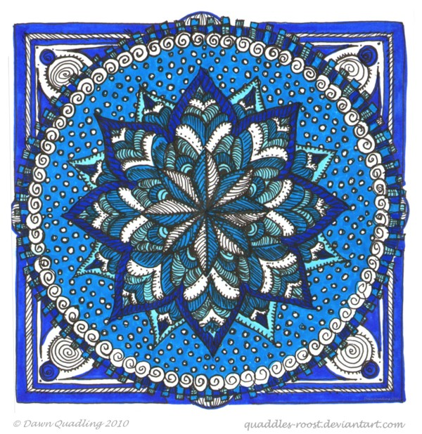 Meditative Moments Mandala by Quaddles-Roost