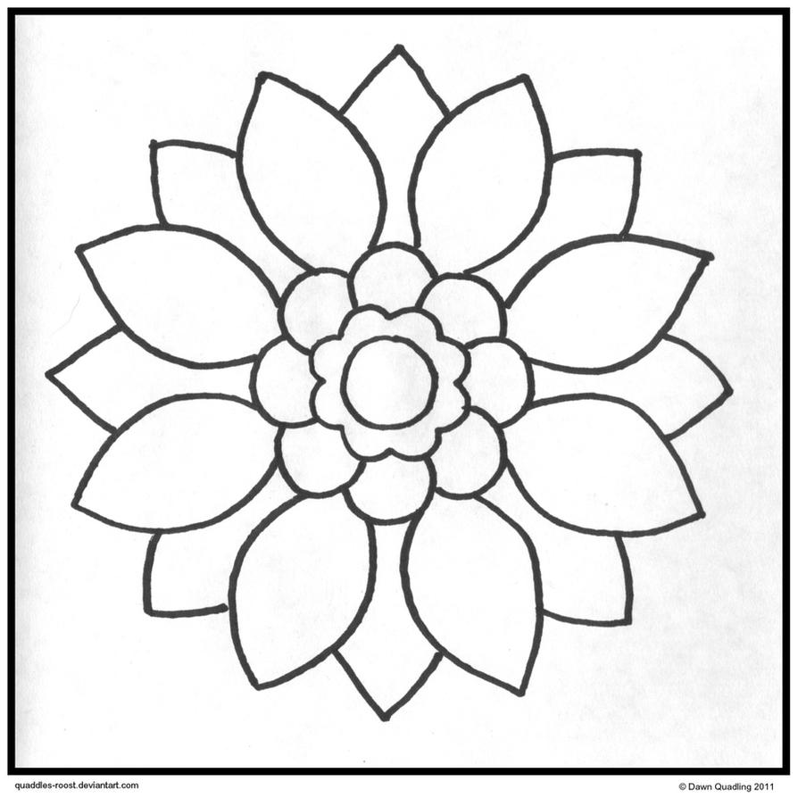 easy coloring pages to draw | Sun Petal Mandala DOWNLOADABLE by Quaddles-Roost on DeviantArt