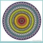 Rainbow Aztec Mandala Collab with katahrens