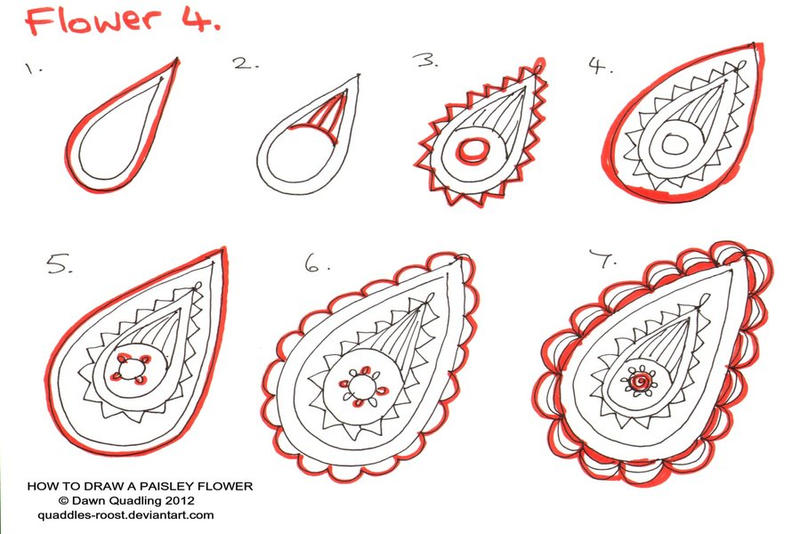 how to draw paisley pattern