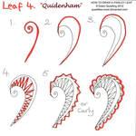 How to draw Paisley Leaf 04 Quidenham