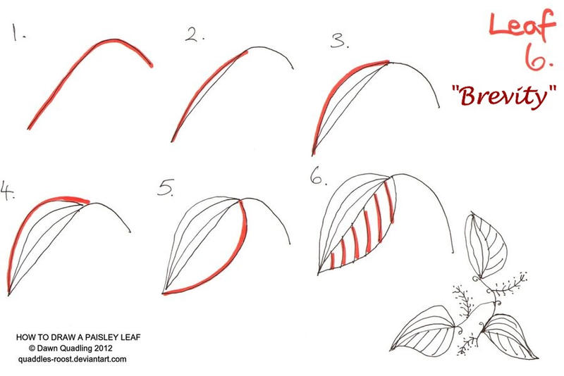 how to draw paisley design hearts