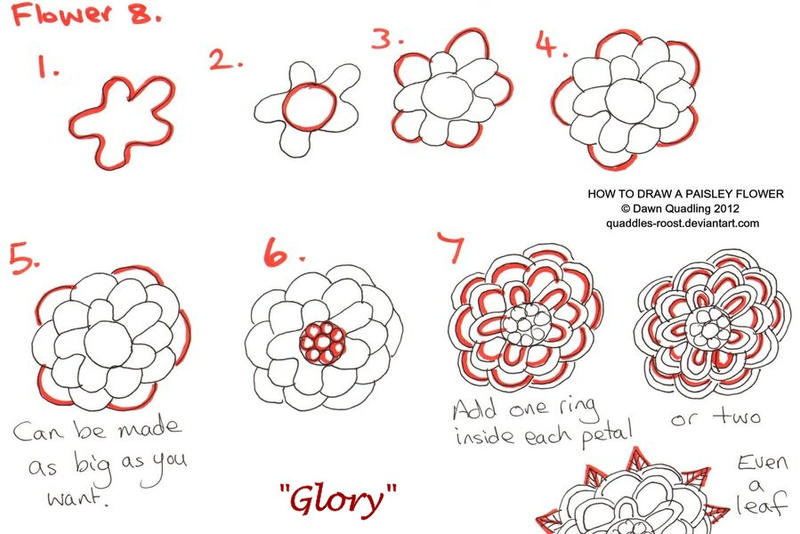 How to draw paisley flower 08 glory by quaddles roost on for How do i draw a flower