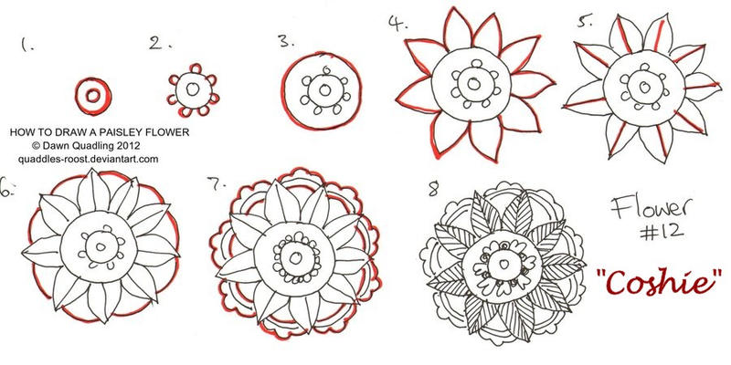 How To Draw Paisley Flower 12 Coshie By Quaddles Roost
