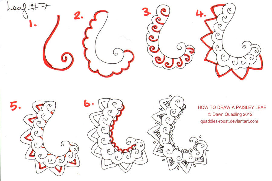 How To Draw Paisley Leaf 07 By Quaddles Roost On DeviantArt