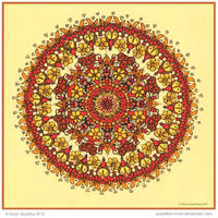 Summer Time Mandala Collab by Quaddles-Roost