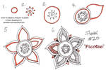 How to draw Paisley Flower 20 Picotee