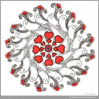 Lovey Dovey Mandala by Quaddles-Roost