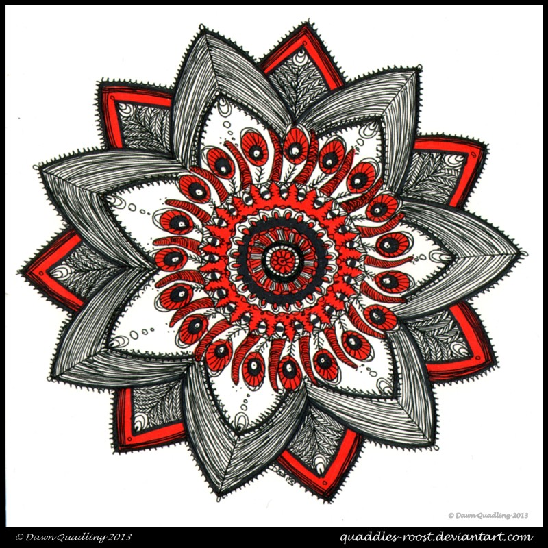 Oh! Look At Me Now Mandala by Quaddles-Roost