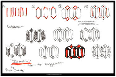 How to Draw Tangle 07  Drayton quaddles-roost